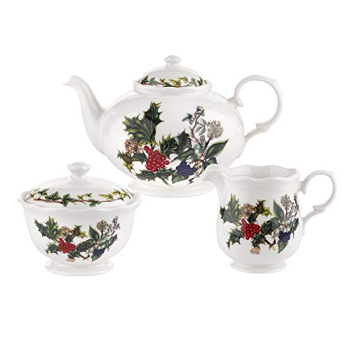 Portmeirion Teekannen-Set Holly & Ivy, 3-teilig