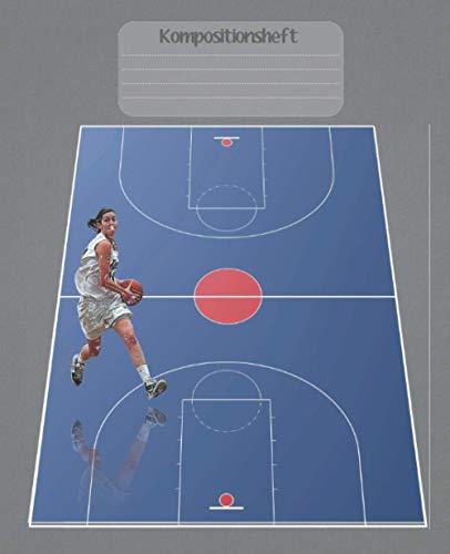 Kompositionsheft: B.| Basketball-Notizbuch | GRAFIKPAPIER (7,5 x 9,25 Zoll) 110 Seiten | Für Jungen Mädchen Kinder Jugendliche Studenten | Basketball-kompositions-notizbuch |