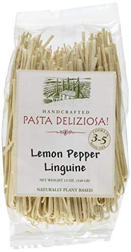 Pasta Deliziosa Handcrafted Pasta, Lemon Pepper Linguine, 12 Ounce