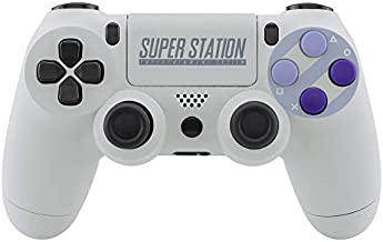 eXtremeRate Classics SNES Style Soft Touch Front Back Shell Touchpad for Playstation 4 Controller, Replacement Housing Shell with Face Buttons for PS4 Slim PS4 Pro CUH-ZCT2 Controller