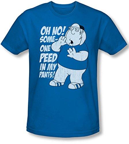 Family Guy - Männer in meinen Hosen Slim Fit T-Shirt, X-Large, Royal Blue