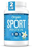 Orgain Vanilla Sport Plant-Based Protein Powder, Made with Organic Turmeric, Ginger, Beets, Chia Seeds, Cherry, Brown Rice and Fiber, Gluten Free, Vegan, Non GMO, Soy Free, Dairy Free, - 2.01 lbs