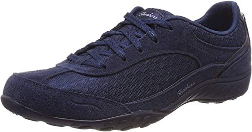 Skechers Women's BREATHE-EASY - SIMPLY SINCERE Trainers, Blue (Navy NVY), 5 (38 EU)
