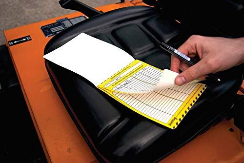 Heftruck Dagelijkse Inspectie Boekje, 6 pagina's, 252 Dagelijkse Inspecties, Polypropyleen
