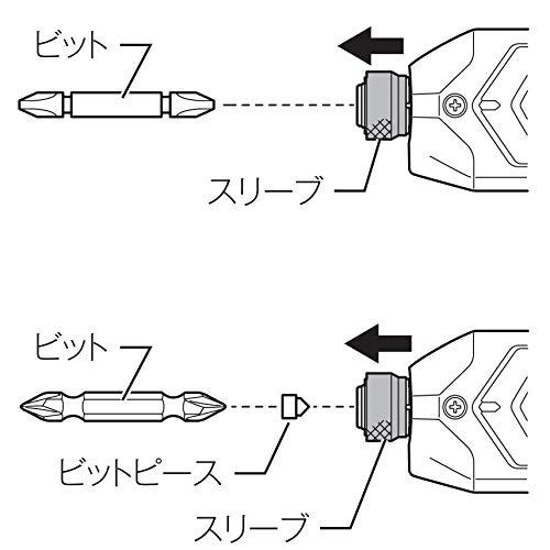 『マキタ(Makita) 充電式ペンインパクトドライバ 黒 バッテリー×2・充電器付 TD022DSHXB』の4枚目の画像