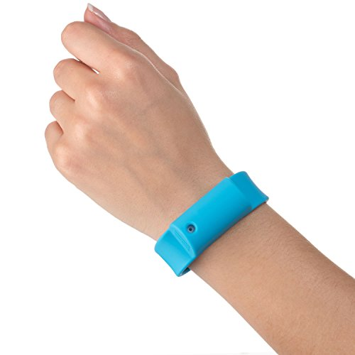 Little Viper Pepper Spray Bracelet, Adjustable Silicone Band- Blue, Lightweight, Discreet and Easy Access for Quick Response to Attack, Contains 3-6 Bursts of 10% OC