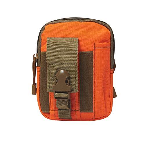 Tourbon Multifunktions-Schutzhülle für Smartphone, Gürtel, Gürtel, Hüfttasche, Orange
