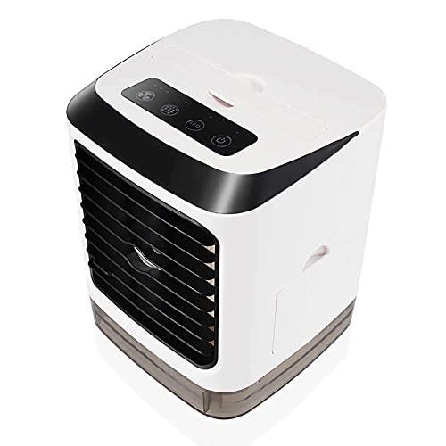 XQTEI Luz del Plato del Refrigerador Led7 del Aire Acondicionado, Ventilador De Enfriamiento del Espacio Personal, Aire Acondicionado PortáTil para Viajar