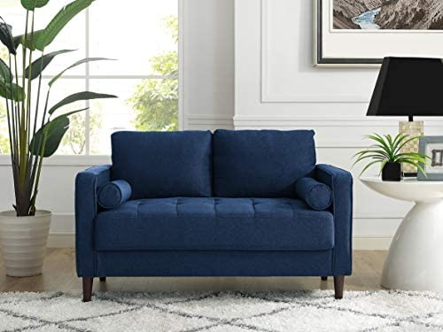 Best Lifestyle Solutions Lexington Loveseat in Navy Blue,