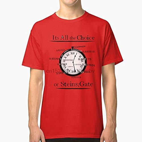 SHANGH The Choice of Steins Gate T Shirt steinsgate Steins Gate okabe Time Watch timetravel docter Scientist madscientist