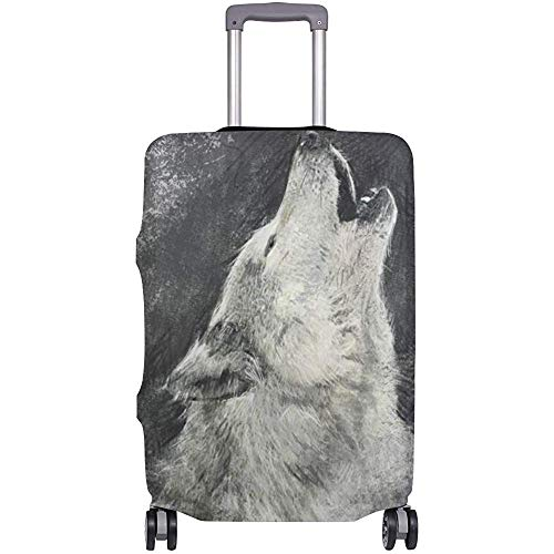 Luggage Coverketch Wolf Elasticuitcase Protector Size M
