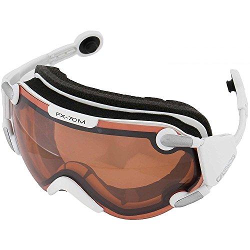 Skibrille Casco FX-70L weiß Magnet-Link Vautron® 2 Automatic Scheibe incl. Sacchetto für Helmgröße L