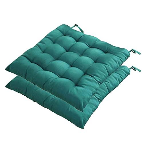 CIN&GO Cuscino per Sedia da Giardino Cuscino per Sedia in Vimini per terrazza Esterna 40 cm Cuscino per Sedia da Cucina Quadrato Morbido da Pranzo