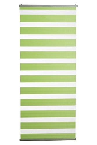 K-home Schiebevorhang Ibizamit Doppelrollo-Optik Grün 60 x 145 (B x L) , 1 Stück