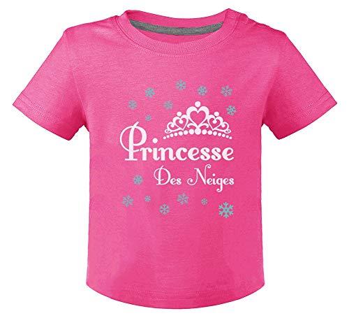 Green Turtle T-Shirts Princesse des Neiges Hiver Motifs de Noël Naissance T-Shirt Bébé Unisex 6M Fuchsia