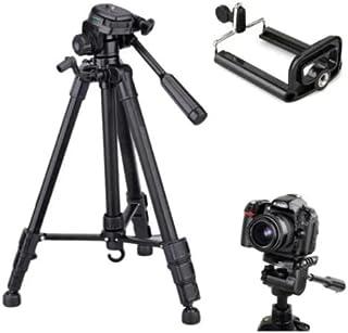 Tripe Universal 1,80M preto prata para Câmeras Nikon Canon Fotográficas com suporte para celular e bolsa SLC3600 Luuk Youn...