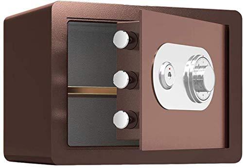 Casseforti Casseforti mobile divisorio, built-in sistema di allarme antifurto ignifugo e impermeabile meccanico autobloccante elettronico di sicurezza Box 38 * 30 * 30cm Safe (Color : Brown)