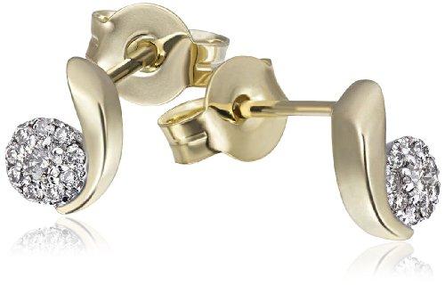 Goldmaid Damen-Ohrstecker Glamour 585 Gelbgold 20 Diamanten 0,16 ct. Ohrringe Brillanten Schmuck
