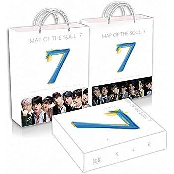 Alcompluser Kpop Map of The Soul 7 Photobook 54P Mini Book Jungkook Jimin V Suga Jin J-Hope RM Chiffon Photo Meilleur cadeau pour Army