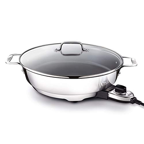 All-Clad SK492 Electric Skillet with Adjustable Temperature Dial, 7 Quart,...