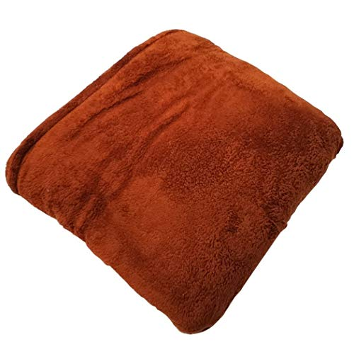Yongyong Albornoz Manta Mujeres Premium con Mangas For Adultos Caliente Acogedora Extra Suave Microplush Funcional Throw Usable Ligera (Color : Brown, Size : 137 * 180cm)