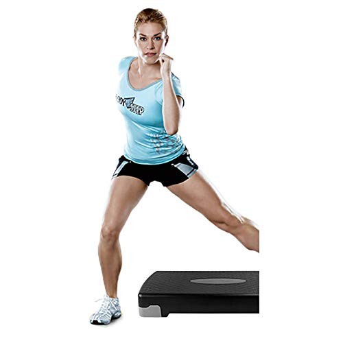 F-JX Aerobic Step Height Adjustable Exercise Stepper Steps Raise Platform Steppers Board Box Block Excellent Home Gym Fitness Workout Equipment - 66Cm X 26Cm,F