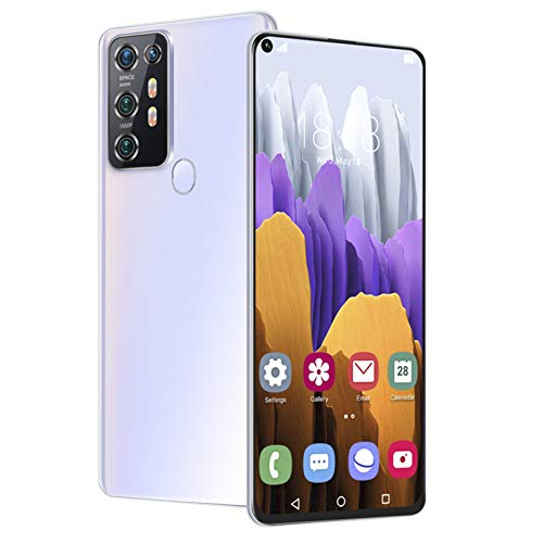 Smartphone Desbloqueado, 19: 9 7.2'HD 12 + 512GB Face ID + Huella Digital Android 10 Teléfono Inteligente Dual Sim Quad Camera 5000Mah Batería Teléfono Celular GPS Bluetooth WiFi Smartphone(EU)