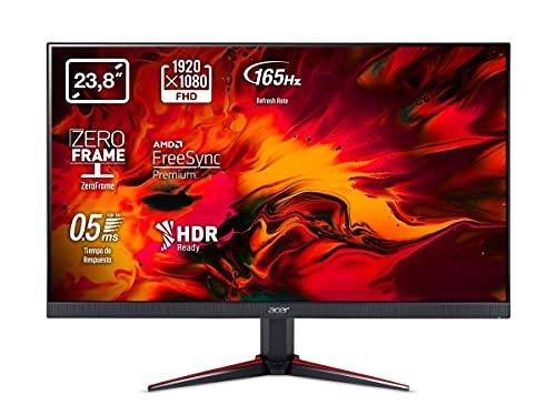 Acer Nitro VG240YS - Monitor Gaming de 24' Full HD 165 Hz (61 cm, 1920x1080, Pantalla IPS LED, ZeroFrame y FreeSync, 250...