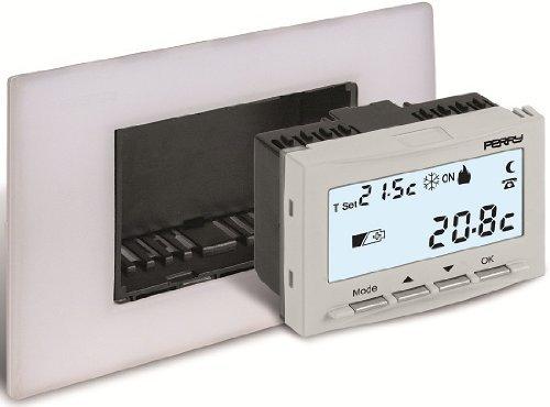 Perry 1TITE540 Digitale inbouwthermostaat, werkt op batterijen, 24 maanden