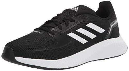 adidas Runfalcon 2.0 Running Shoe, Black/White/Silver Metallic, 6 US Unisex Big Kid