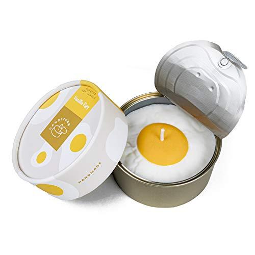 CandleCan Vanille-Eier-Kerze – große echte Luxus-Duftkerzen für Frauen, Feinschmecker – Golddose Kerze für Zuhause – pflanzliches Wachs – lange Brenndauer 30 Stunden