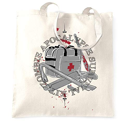 Tim And Ted Zombie Apokalypse Tragetasche Survival Kit Logo White One Size