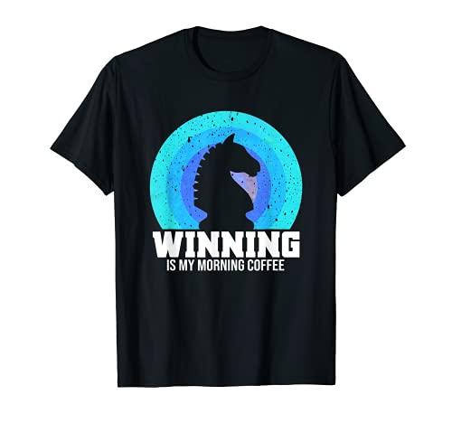 Fun Online Juego de Ajedrez Regalo Retro Ganador Caballero Figura Camiseta