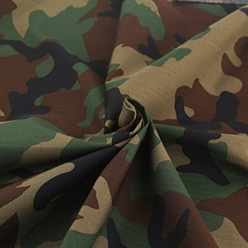 SCYarn Korean Army Camouflage Military 100% Cotton Fabric by The Yard for Sewing 60' inches Wide, Yard Precuts (1 Yard)