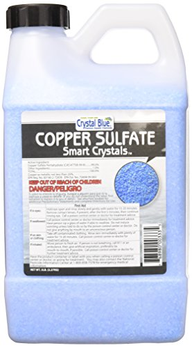Crystal Blue Copper Sulfate Algaecide  Aquatic Grade Granular Pond Algae Control  5 lbs