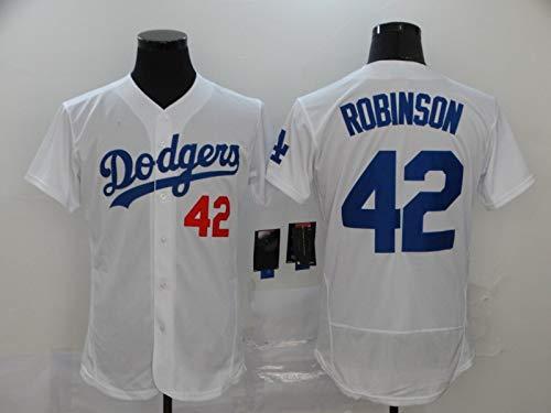 JMING Jersey De Béisbol, Dodgers #21 BUEHLER 34 VALENZUELA 42 Robinson Uniformes De Béisbol Para Hombre, Uniforme De Equipo De Camisa De Manga Corta De Juego De Béisbol De élite Para Hombre Con (A6,M) 🔥
