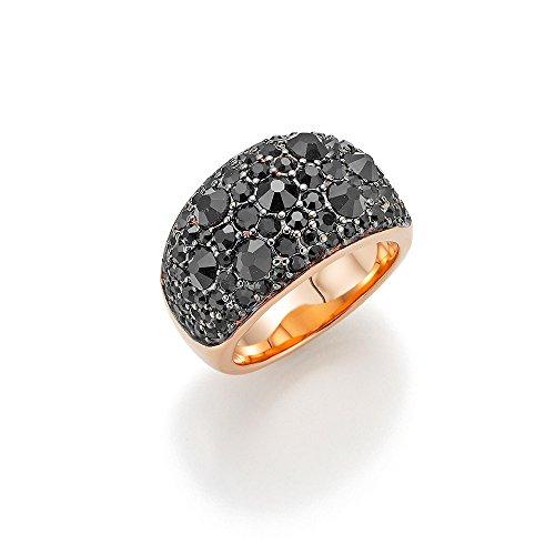 GERRY WEBER Damen-Ring Edelstahl Kristall schwarz Gr. 56 (17.8) - 191063617560