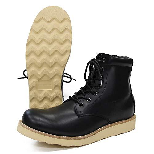 [スローウエアライオン] 3ヶ月保証 8593CA BLACK 8E[26.0-26.5cm] オイルドカウレザーブーツ クレープソール 本革 日本製