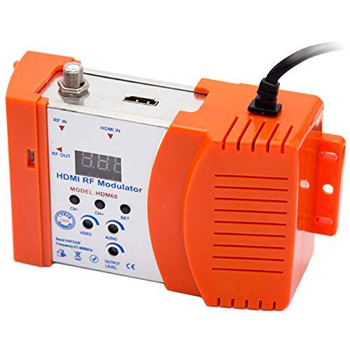 Monland Nuevo Modulador HDM68 RF Digital Modulador HDMI Convertidor AV una RF VHF UHF PAL/NTSC Modulador PortáTil EstáNdar Enchufe de la UE