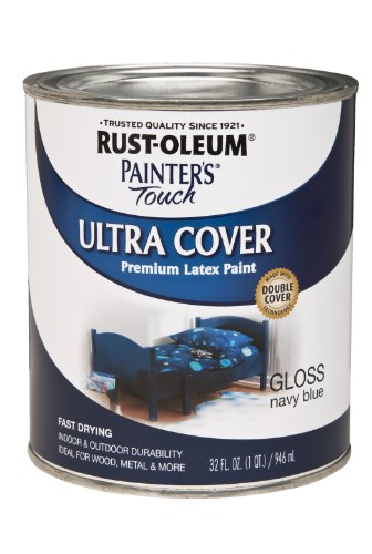 Rust-Oleum 1922-502 1922502 Painters Touch Latex, 1-Quart, Gloss Navy Blue