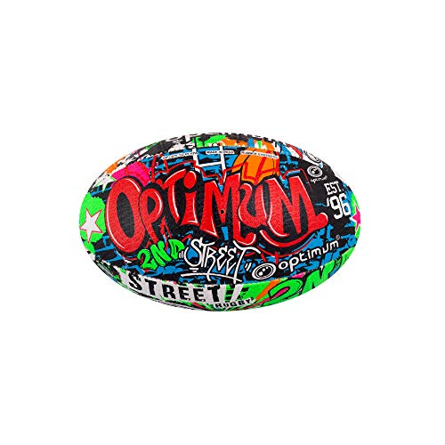 OPTIMUM Unisex-Adult 2nd Rugby Ball Street Ii Rugbyball für Herren, Mehrfarben, Mini, Graffiti