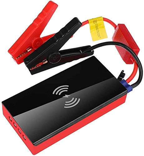 Metdek Cargador inalámbrico para coche, 20000 mAh, 12 V, 600 A, batería portátil