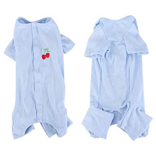 SALUTUYA Disfraz de Perro Mascota Simple, Disfraz casero de Perro Gato, Adopta, Hecho de Material de algodón(Blue, M)