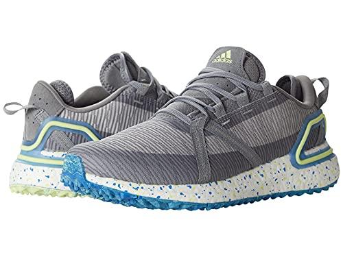 adidas Men's Unisex Solarthon Primegreen Spikeless Golf Shoes, Grey Three/Pulse Yellow/Grey Two, 11.5