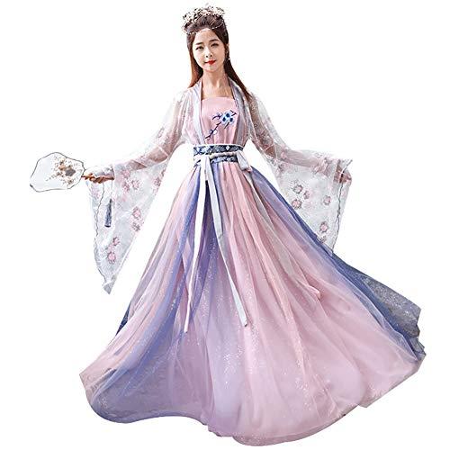 ZLLZM Chinesisch Stil Hanfu - Uralt Traditionell Tang Suit Fairy Kleider Cosplay Bühnen Performance Kostüm,L