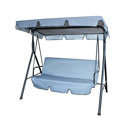 Replacement Canopy,Rain-Proof Flapped Park Canopy Cover, Outdoor Patio Swing Ceiling For Swing Seat 2 & 3 Seater Sizes (Grey)