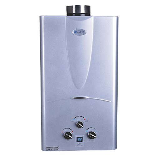 Marey Power Gas 10L 2.7 GPM Propane Gas Digital Panel Tankless Water Heater