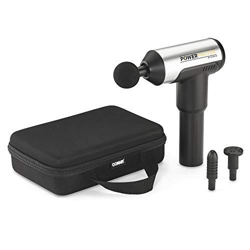 Conair PowerMaster Percussion Massage Gun, 3 Massage Heads + 4 Speeds