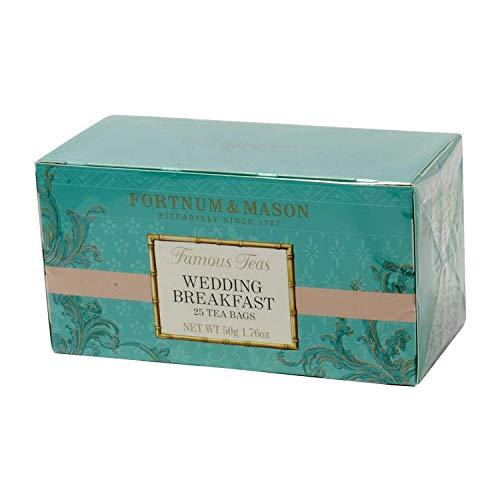 フォートナム&メイソン ウエディングブレックファスト ブレンド ティーバッグ25個入りx1箱(最上級のアッサムとウィリアム王子がプロポーズをした場所、ケニア産茶葉入り) (1箱で25ティーバッグ入り) 個包装ティーバッグ (Fortnum&Mason We