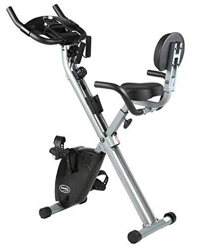 BODYCOACH Bike ´n Tube Fitness 2in1 Fahrrad Sitz-Heimtrainer klappbar Rückenlehne Trainingsbänder 8 Widerstandsstufen